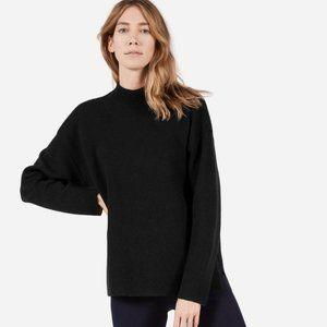 Everlane Luxe Double-Knit Mock Neck Wool Sweater